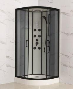 Хидромсажна душ кабина АЛЕЙНА 8535 90*90 черна
