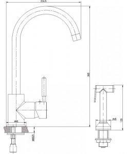 Месингов смесител за кухня 719612C хром