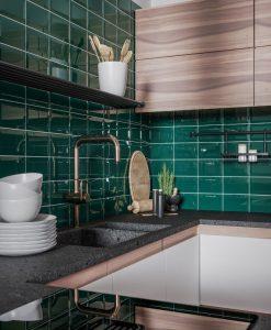 Плочки за баня и кухня Golden Tile Metro Turquoise 10*20