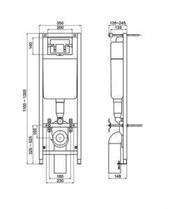 Структура за вграждане W3714AA с бутон W3709AA