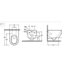 GROHE ESSENCE Конзолна тоалетна без ринг 3957100H+39577000 Soft Close PureGuard