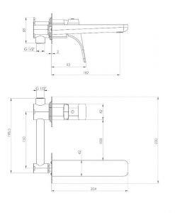 Смесител за вграждане за мивка в бял цвят Deante Hiacynt BQHA54L