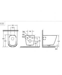 Grohe Euro Ceramic Конзолна тоалетна без ринг 39538000+39331001