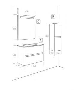 Мебели за баня ARVIPO LINE
