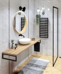 Плочки за баня ECOCERAMIC модел ESSENTIAL WHITE 33.3*55