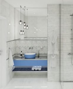 Плочки за баня ECOCERAMIC модел MIRAGE COLD 25*70