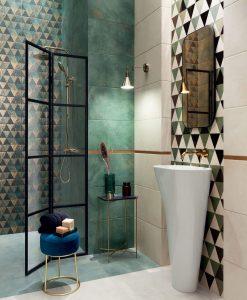 Плочки за баня TUBADZIN MARGOT GREEN 30.8*60.8