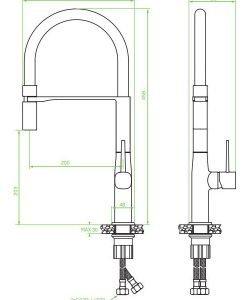 Смесител за кухня LAVEO модел POLA BAP_878D розово злато