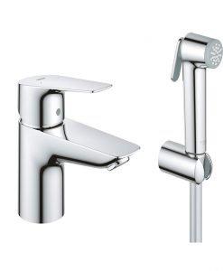 BAUEDGE GROHE Смесител за мивка с подвижен душ 23757001