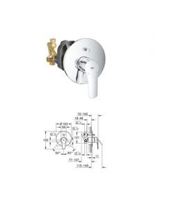EUROSMART Смесител за вграждане 33305003