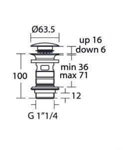 Ideal Standard клик сифон за мивка E1482XG