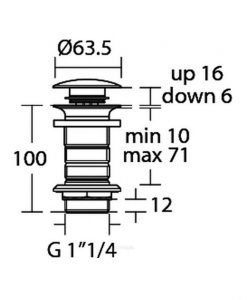 Ideal Standard клик сифон за мивка E1483XG