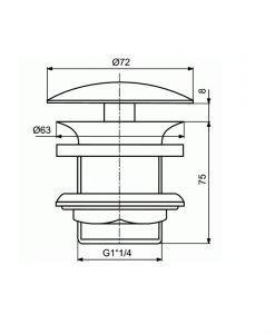 Ideal Standard клик сифон за мивка J3291XG