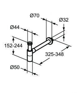 Ideal Standard луксозен сифон за мивка T4441XG