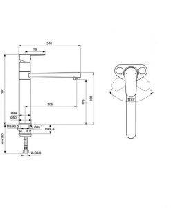 IDEAL STANDARD Смесител за кухня CERAFINE O BC501XG