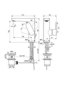 IDEAL STANDARD Смесител за мивка Cerafine O Grande BC703XG