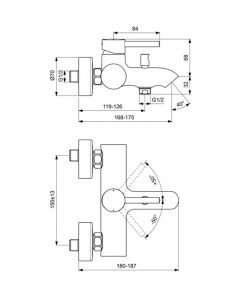IDEAL STANDARD Смесител за вана/душ Ceraline BC199XG