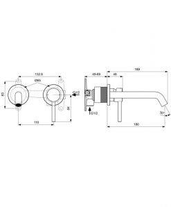 IDEAL STANDARD Смесител за вграждане мивка Ceraline A6938XG
