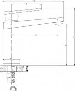 Месингов смесител  за умивалник 195053C HROM