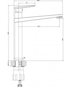 Месингов смесител  за умивалник висок 195055C HROM