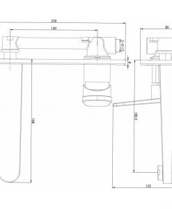 Месингов смесител за вграждане ХРОМ 592053C