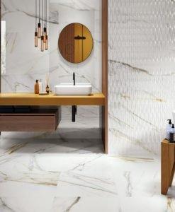 Плоки за баня CALACATTA GOLD WHITE 31.6*100