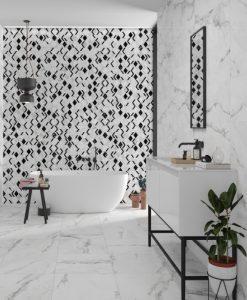 Плоки за баня INSIGNIA WHITE MATE 31.6*100