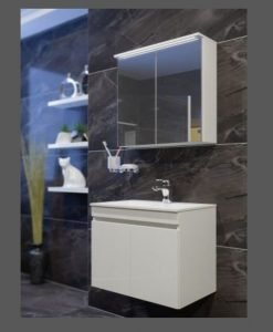 PVC шкаф комплект за баня ЕЛИ бял 55