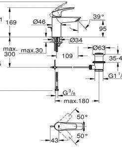 Смесител за умивалник GROHE EUROSMART S 33265003