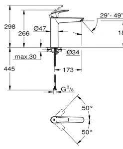 Смесител за умивалник GROHE EUROSMART XL 23971003
