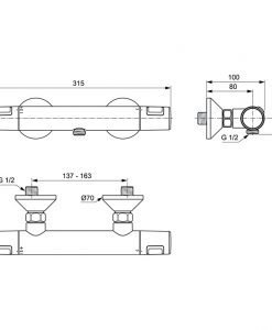 Термостатен смесител  Ideal Standard CERATHERM T25 A7201XG