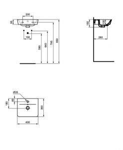 Умивалник за баня Ideal Standard Connect Air E0307V3 40см.