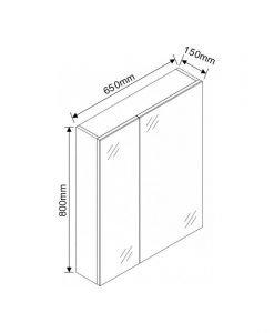 Огледален шкаф за баня ICMC 6515-80 65см.