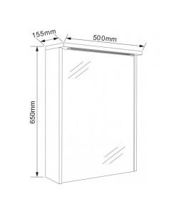Огледален шкаф с LED осветление ICMC 5018-70 50см.
