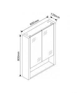 Огледален шкаф за баня ICMC 6013-80 60см.