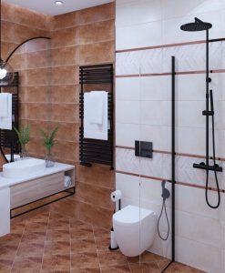 Плочки за баня ECOCERAMIC серия ELECTRIC OXIDO 25*70 мат