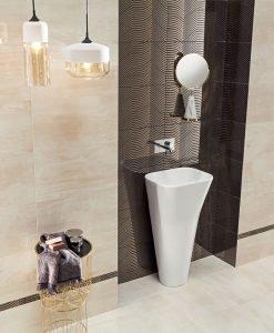Плочки за баня TUBADZIN модел SHINE CONCRETE 29.8*59.8
