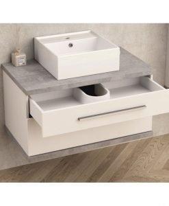 Шкаф за баня без умивалник АРИЯ 80 8144-1