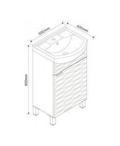 Шкаф за баня Inter Ceramic ICP 5091NEW