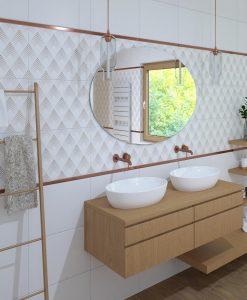 Плочки за баня PAMESA модел AMA DABLAM 33.3*55 гланц и мат