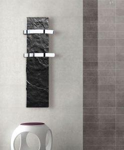 Електрически отоплител за баня с акумулираща функция CLIMASTAR Slim 500 W черен релеф