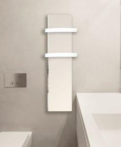 Електрически отоплител за баня с акумулираща функция CLIMASTAR Slim 500W бял