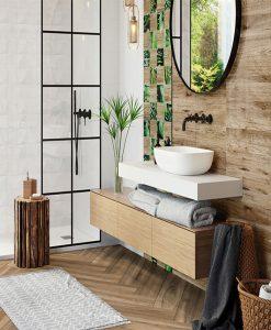 Плочки за баня серия WHITE GLOSSY OREGON 25*75