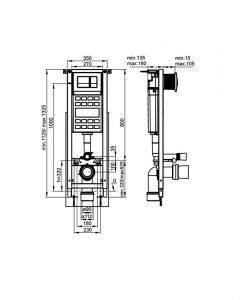 Комплект окачена тоалетна MIRA и структура FAYANS с черен бутон